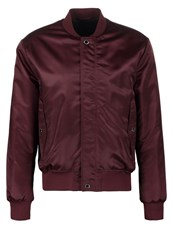 Tiger Of Sweden Illuster Bomber Jacket Wine Dark Red
