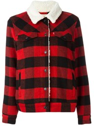 Levi's Checked Jacket Red