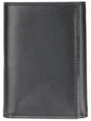 Maison Martin Margiela Double Billfold Card Wallet Men Leather One Size Black