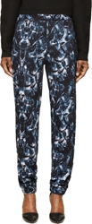 Marcelo Burlon County Of Milan Navy And Pink Snake Coil Print Lounge Pants