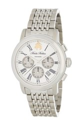 Brooks Brothers Men's Chronograph Collection Analog Bracelet Watch Metallic