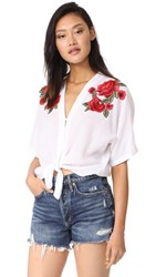 Rails Thea Top Rose Embroidery