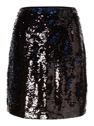 Pied A Terre Sequin Mini Skirt Navy