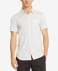 Kenneth Cole Reaction Men's Grid Pattern Shirt White Combo