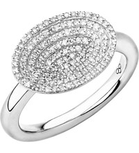 Links Of London Concave Sterling Silver And Diamond Ring