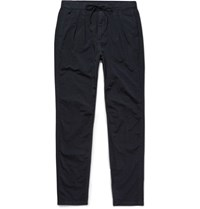 Nonnative Slim Fit Overdyed Textured Nylon Drawstring Trousers Midnight Blue
