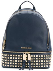 Michael Michael Kors Small 'Rhea' Backpack Blue