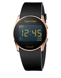 Calvin Klein K5b236d1 Future Digital Rubber Strap Watch Black