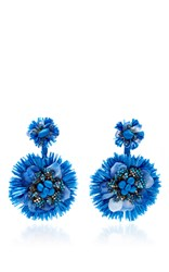 Ranjana Khan Blue Drop Flower Fan Earrings
