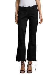 Marques Almeida Flared Denim Capri Jeans Black