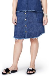 Rachel Roy Plus Size Women's Denim Button Front Skirt
