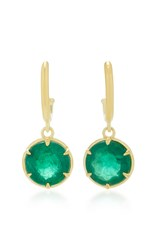 Ila Alastair 14K Gold And Emerald Earrings Green