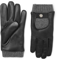 Mulberry Cashmere And Leather Gloves Black