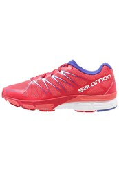 Salomon Xscream Foil Cushioned Running Shoes Papaya Lotus Pink Spectrum Blue Coral