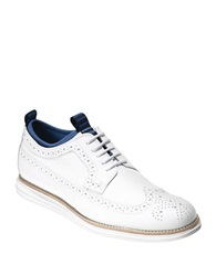 Cole Haan Leather Wingtip Brogue Oxfords Optic White
