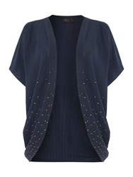 Label Lab Sequin Trim Cover Up Navy