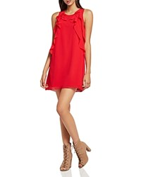 Bcbgeneration Ruffled Tent Dress Cranberry