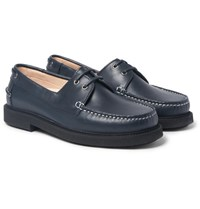 A.P.C. Leather Boat Shoes Navy