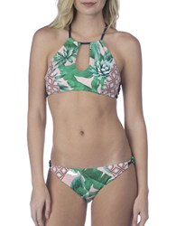 Sperry Tropical Bikini Top Green