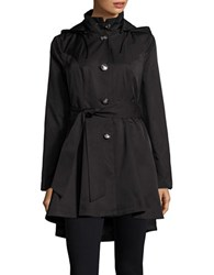 Betsey Johnson Flared Trench Coat Black