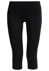 Elle Sport Essential 3 4 Sports Trousers Black Gold Silver