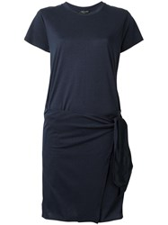 Rag And Bone Asymmetric T Shirt Dress Blue