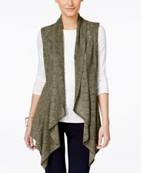 Vakko For Inc International Concepts Faux Suede Laser Cut Vest Only At Macy's