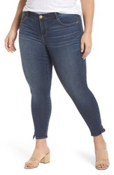 Wit And Wisdom Plus Size Women's Ab Solution Tie Cuff Ankle Skimmer Jeans Blue