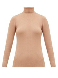 Joseph Roll Neck Silk Blend Sweater Camel
