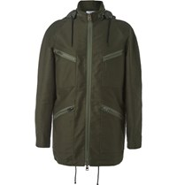 J.W.Anderson Brushed Cotton Twill Field Jacket Green