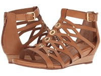 Sofft Roslyn Luggage Cow Quilin Women's Sandals Brown