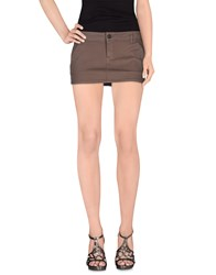 Manila Grace Denim Denim Skirts Women Light Brown