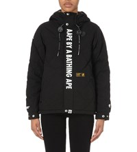Aape By A Bathing Ape Quilted Shell Jacket Black