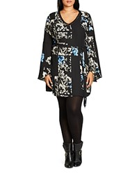City Chic So Decadent Tunic Ultra Blue