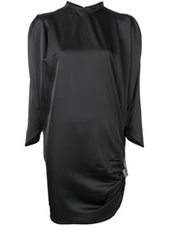 Nineminutes Shoulder Pad Dress Black