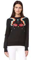 Olympia Le Tan Dutches Sweatshirt Black