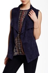 Romeo And Juliet Couture Faux Suede Vest Blue