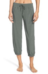 Zella Women's 'Out And About' Crop Joggers Green Balsam