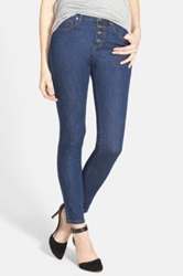 Rvca 'Time To Go' High Waist Skinny Jeans Juniors Blue