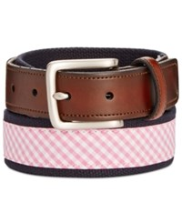 Club Room Men's Plaid Webbing Belt Only At Macy's Pink