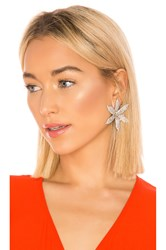 Jennifer Behr Crystal Orchid Earrings Metallic Silver