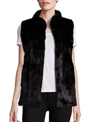 Fabulous Furs Signature Faux Fur Hook Vest Sable Vintage Mink Black