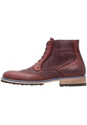 A Fish Named Fred Laceup Boots Bordeaux