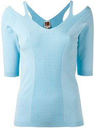 I'm Isola Marras Cut Out Detail Knitted Blouse Blue
