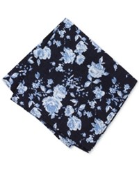 Bar Iii Men's Romeo Floral Pocket Square Only At Macy's Navy