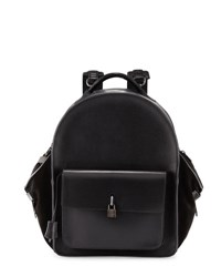 Buscemi Aero Men's Leather Backpack Black