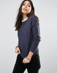 Noisy May Boatneck Knit Ombre Multi