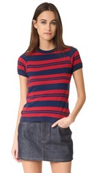 Rolla's Stripe Miller Tee Red Stripe