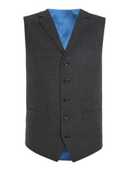 Chester Barrie Textured Wool Flannel Soho Waistcoat Grey