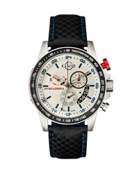 Gv2 45Mm Scuderia Men's Chronograph Watch W Leather Strap Black